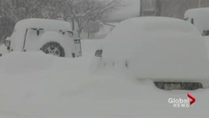 Heavy snow falls on Western Canada